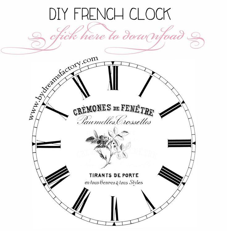 fresh idea whimsical clocks. DIY LArge French Clock Tutorial Ceas Frantuzesc mare The 25 best clock ideas  on Pinterest Projection Fresh Idea Whimsical Clocks Home Design Plan