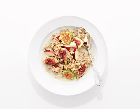 Toasted Pistachio Muesli With Apple and Fig | Get the recipe for Toasted Pistachio Muesli With Apple and Fig.