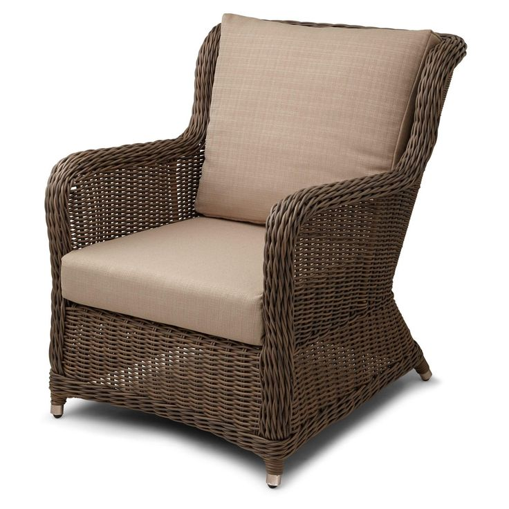 Alcee resin wicker outdoor arm chair and cushion