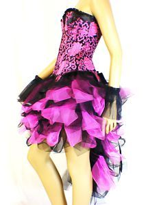 Black Pink Burlesque Costume Skirt Carnival Dress Up Party Show Masquerade Ball   eBay