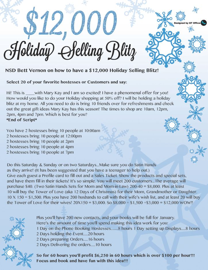 Mary Kay® Holiday Selling Blitz Flyer Freebie