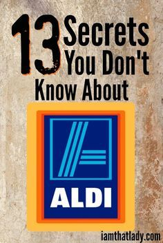 Aldi is my favorite place to grocery shop and over the years I've learned a few of their secrets. In this post I talk all about the 13 top secret things about Aldi grocery stores - you will be shocked! Frugal Living Ideas Frugal Living Tips #frugal