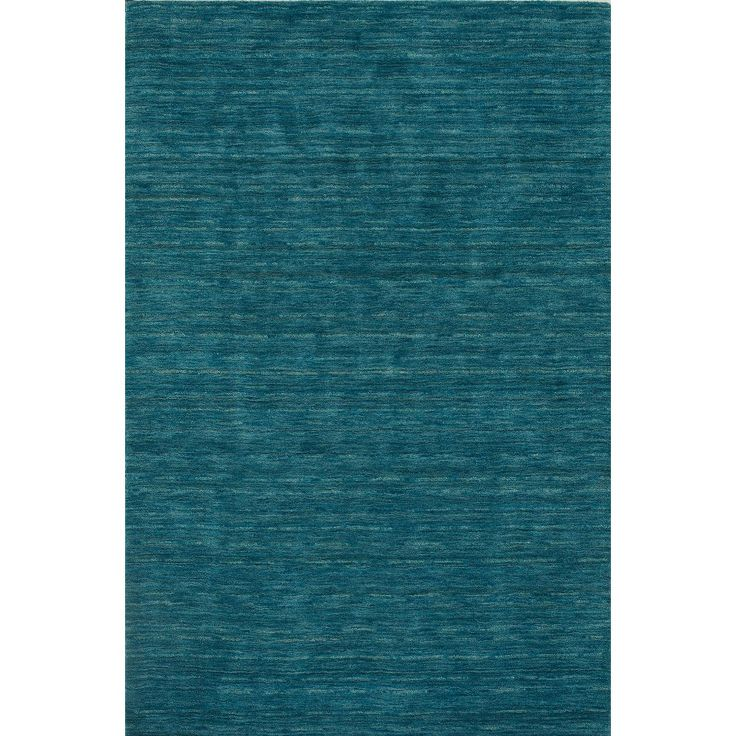 "Tonal Solid 100% Wool Accent Rug - Cobalt (Blue) (3'6""x5'6"")"