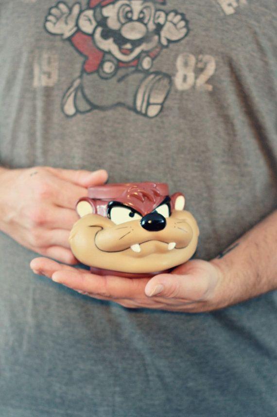 Tasse Diable de Tasmanie tasse Looney tunes Tasse par PastelEtPixel