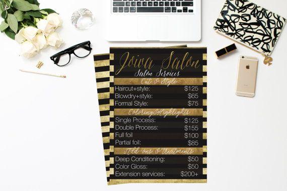 Salon service list
