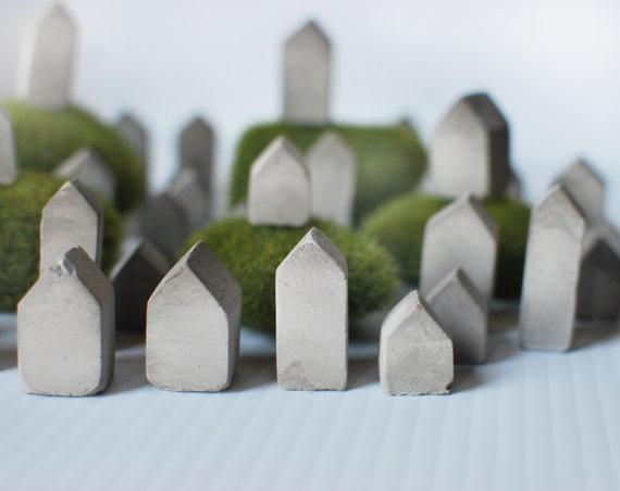 Tiny concrete village