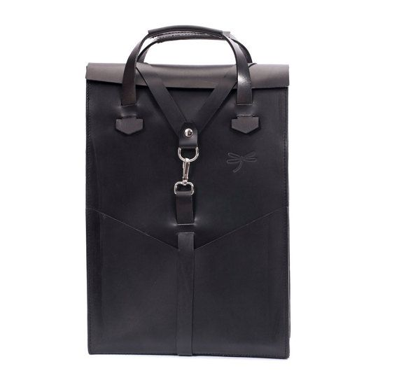 Bag, backpack and wallet in one, Leather Backpack, Laptop Backpack, backpack removable strapsand whit the possibility of the removable shoulder-belt,