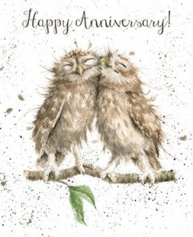 OC018 - Anniversary Owls | Wrendale Designs