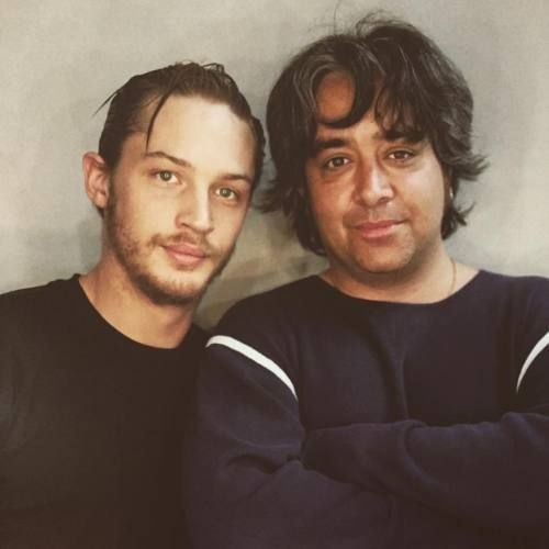 Tom with Stephen Adly Guirgis, photographed by Sarah Dunn. Tom did Stephen's play In Arabia We'd All Be Kings in 2003, so this photo probably from then.