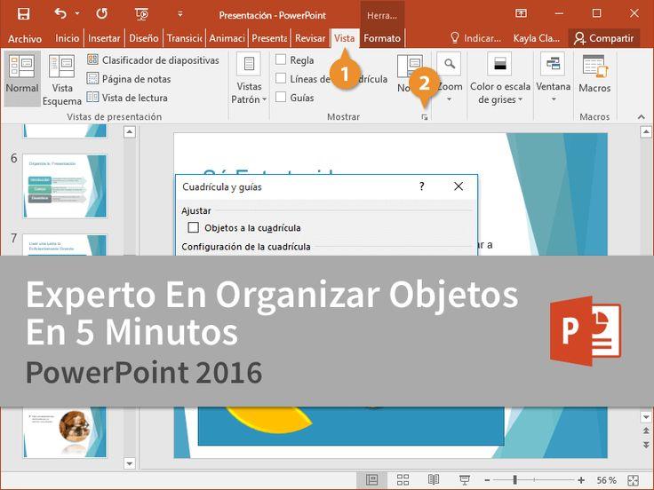 Cursos Gratis - Microsoft PowerPoint 2016 - Experto En Organizar Objetos En 5 Minutos.