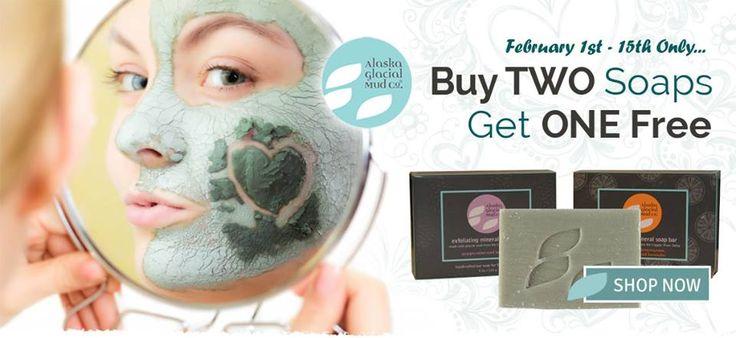 and get one free!! alaskaglacialmud.com #Alaska glacial #mud #mud ...