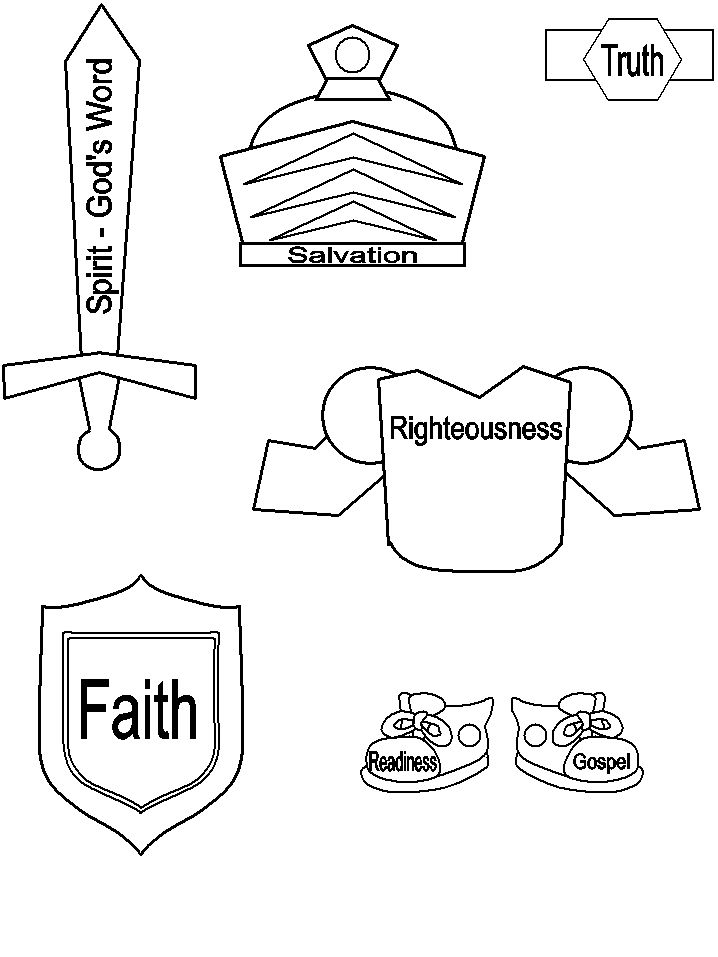 armor coloring pages | Armor of God Printable Craft | Bible Crafts | Pinterest ...