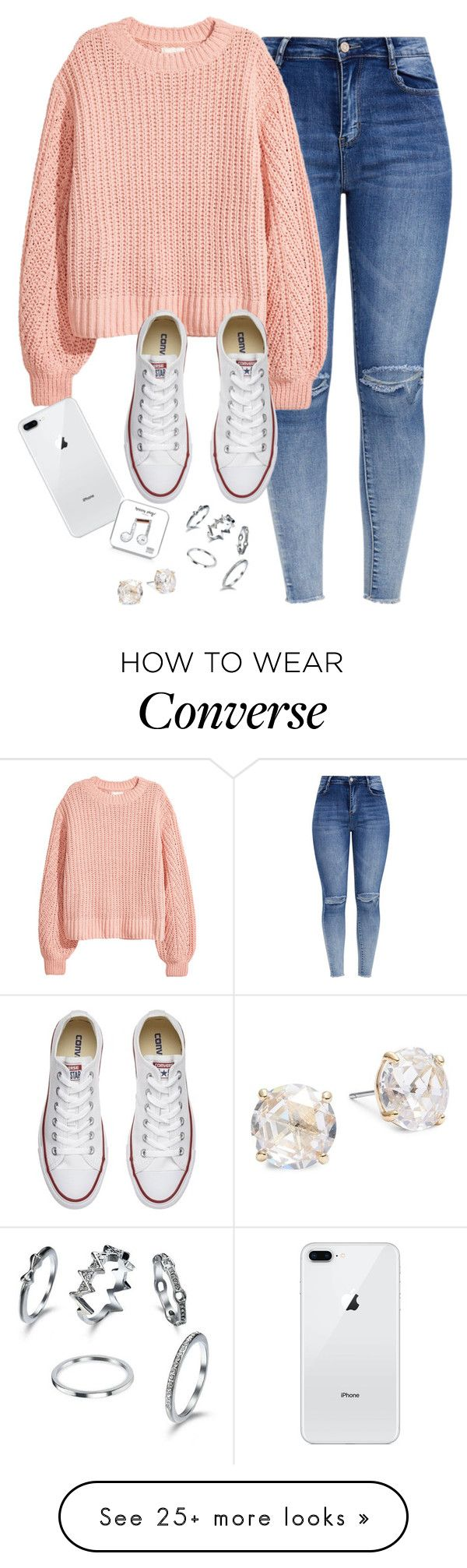 """Very cute, yet simple 50"" by lollypopz951 on Polyvore featuring H&M, Converse, Happy Plugs and Kate Spade"