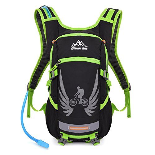 Vbiger Hydration Pack with 2 L Water Bladder Water Resistant Backpack for Hiking Cycling Running Climbing Green >>> Click image to review more details.