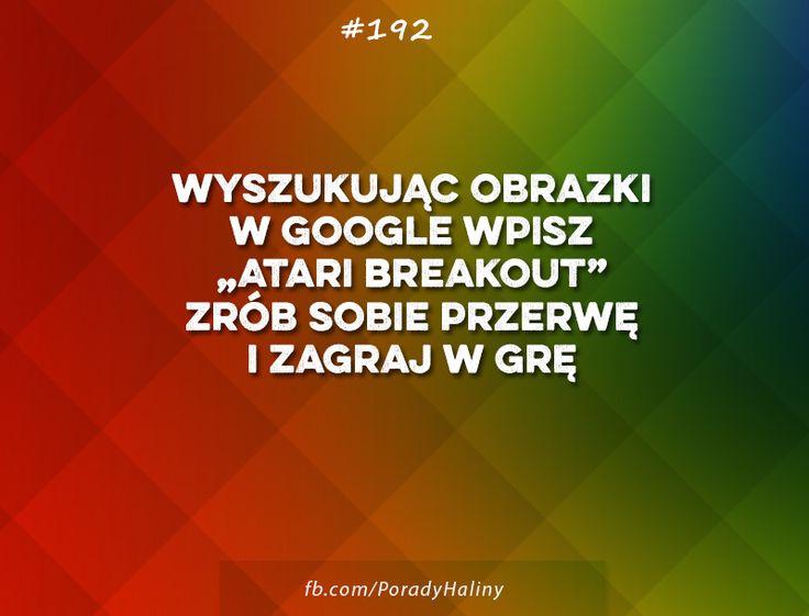 ...trochę rozrywki od googla.