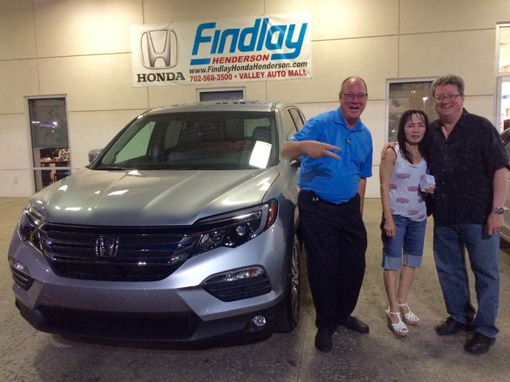 THE FIRST 2016 Honda Pilot EXL sold!  What a beautiful car!! Ray Howitz jumped in the photo with Nicholas and his wife, they have been friends over 20 years and Joey Saccavino was happy to help his friends with their new car.