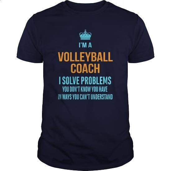 Volleyball Coach - #sleeve #tshirt designs. ORDER HERE => https://www.sunfrog.com/LifeStyle/Volleyball-Coach-96625853-Navy-Blue-Guys.html?60505