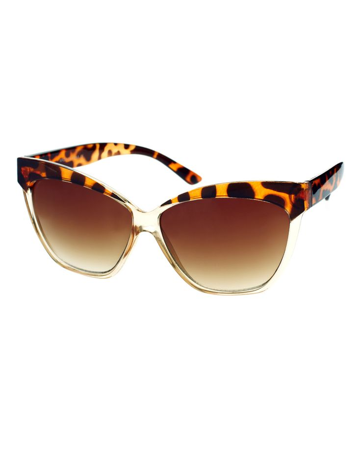 cat eye: Cats, Catey, Style, Cat Eyes, Leopards Prints, Prints Sunglasses, Asos Cat, Contrast Highbrow, Cat Eye Sunglasses