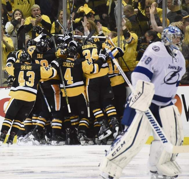 May 16, 2016 — Eastern Conference final: Penguins 3, Lightning 2, OT (Photo: Chaz Palla     Tribune-Review)