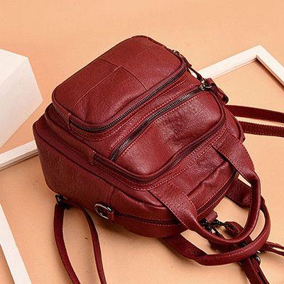 Hot-sale designer Women PU Soft Multifunction Bags Leisure Handbags Large Capacity Backpack Online - NewChic Mobile