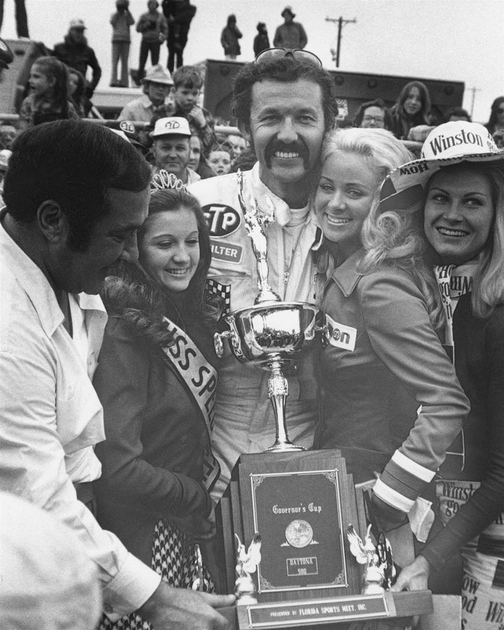 Win No. 149  Date: Feb. 18, 1973  Race: Daytona 500  Track: Daytona International Speedway, 2.5-mile asphalt track.  Notable: Petty posts his fourth win in the Great American Race. A charging Buddy Baker led 156 laps, but his pursuit ended with engine failure six laps short of the finish.