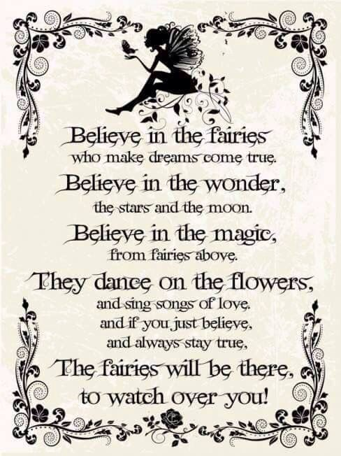 Words and poems about the magic of fairies