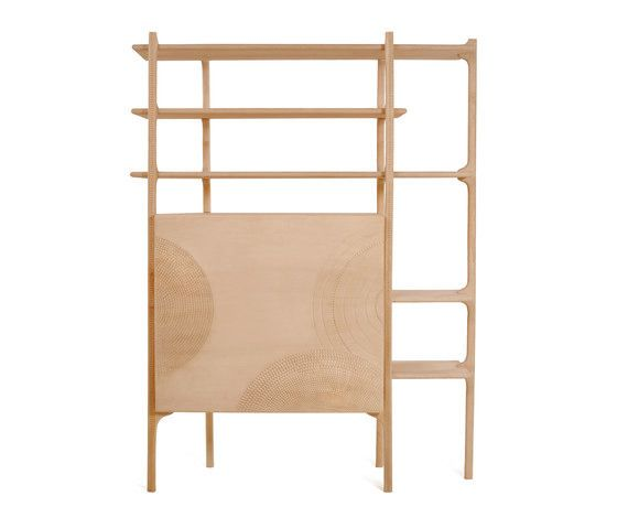 Monica Förster Tara Shelves - This system of cabinets and shelves can be used as single units or as a family for a range of interior design wants. #Zanat #MonicaForster