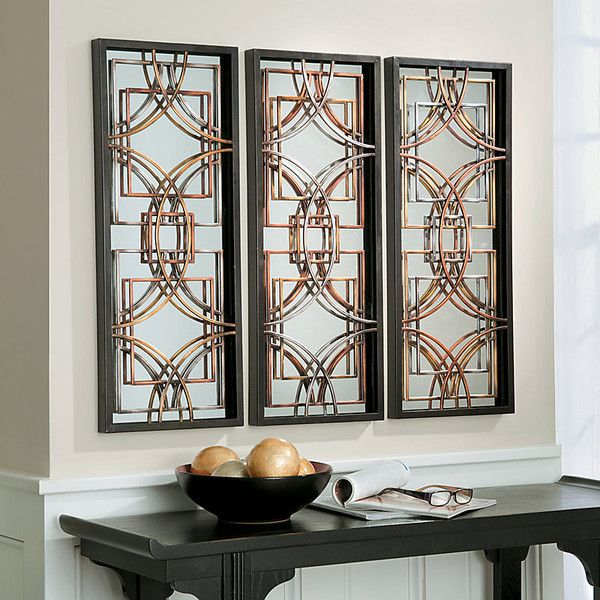 Mirror Wall Decor Set Of Three : Decorative mirror wall plaques set of liked on