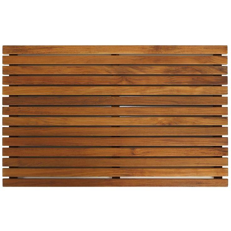 "Master Bath Shower :: Bare Decor Zen Large Oiled Solid Teak Shower Mat - on Overstock™ - 31.5"" x 19.5"" (1.5"" high) - $100"