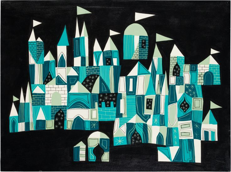 Mary Blair - concept art for Small World 1964