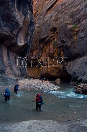 Hiking the Virgin River - Been there, waist deep in water.