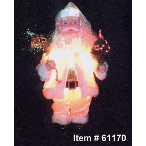 Quot light up animated santa claus christmas decor