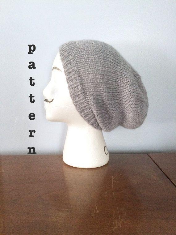 knit slouchy beanie PATTERN // with DK yarn