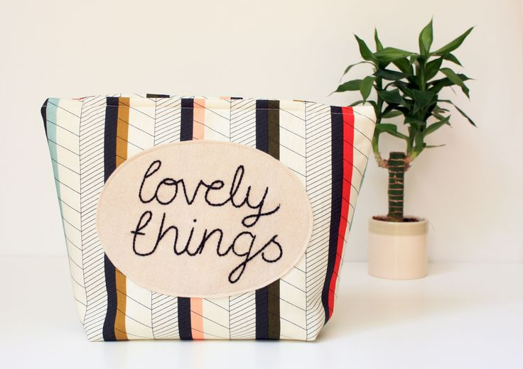 """""""Lovely Things"""" large wash bag perfect for keeping just about anything in! Big enough for everything you would need to take away with you."""