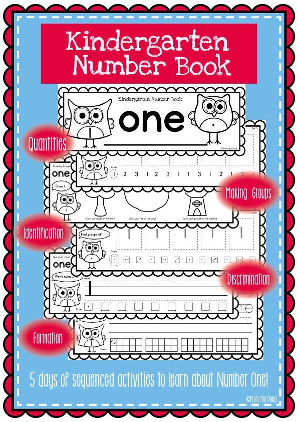 Kindergarten Number Book - Number One $