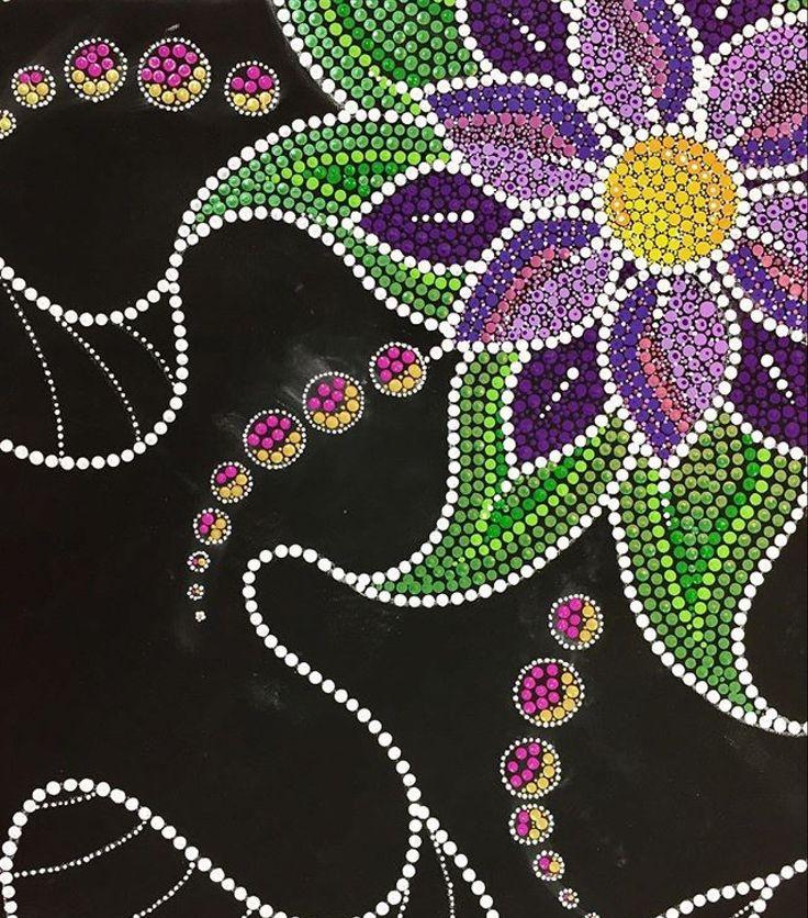 Flower dot painting