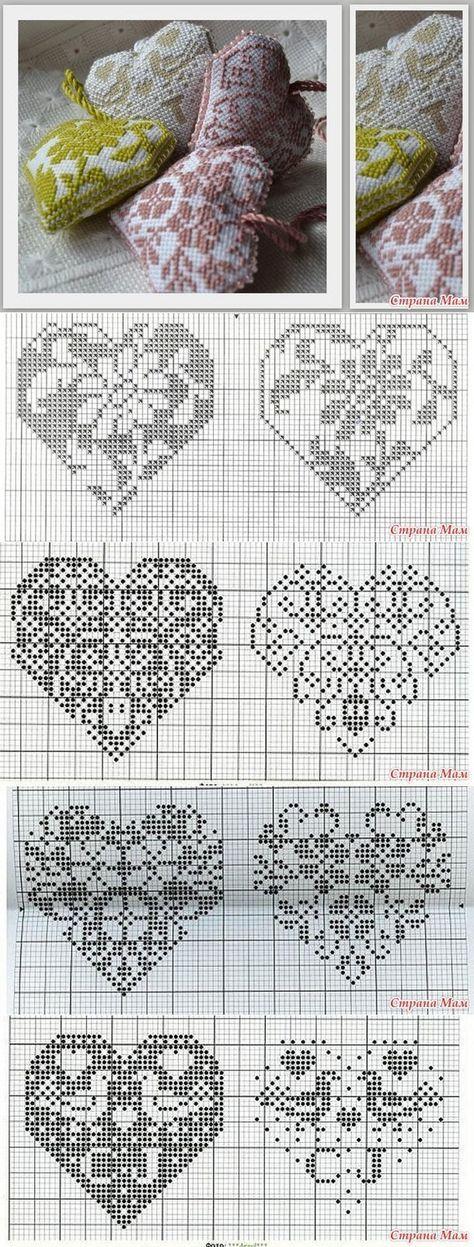 Cross stitch heart patterns