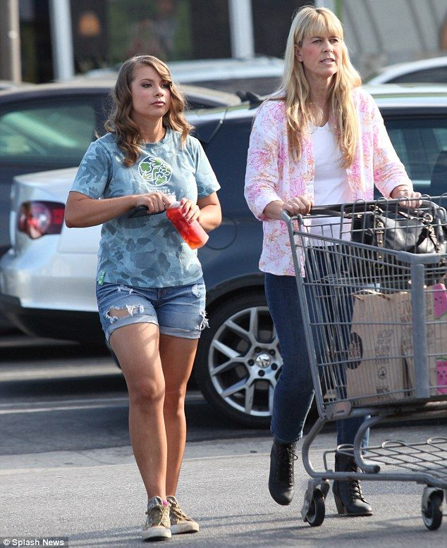 Family day out: Bindi Irwin with her mum Terri Irwin, ditched the Hollywood rehearsal studios for a days shopping together...  v@e..