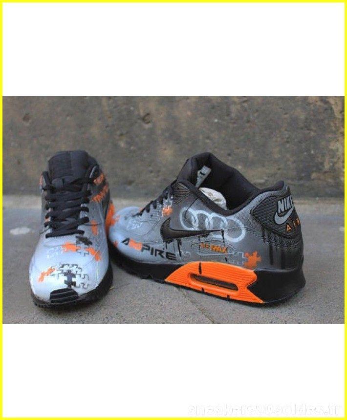 air max 90 black and orange mens