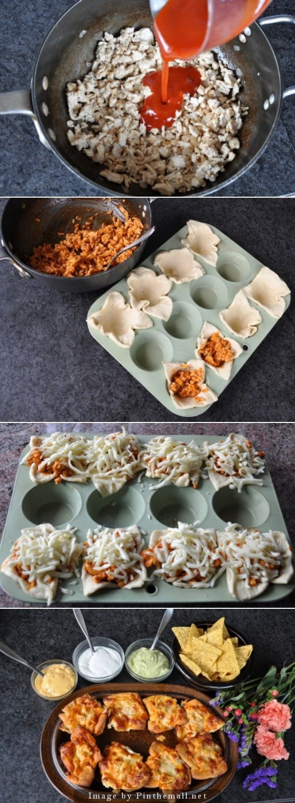 Buffalo Chicken Cups Texas Pete Style Recipe #tailgating #gameday