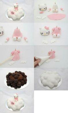 Hello Kitty fondant figure