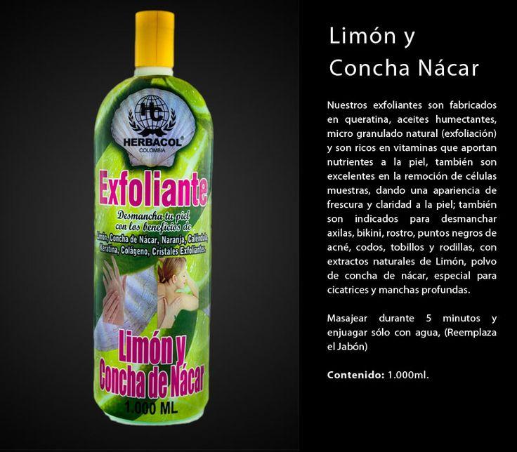 exfoliante limón y concha nacar
