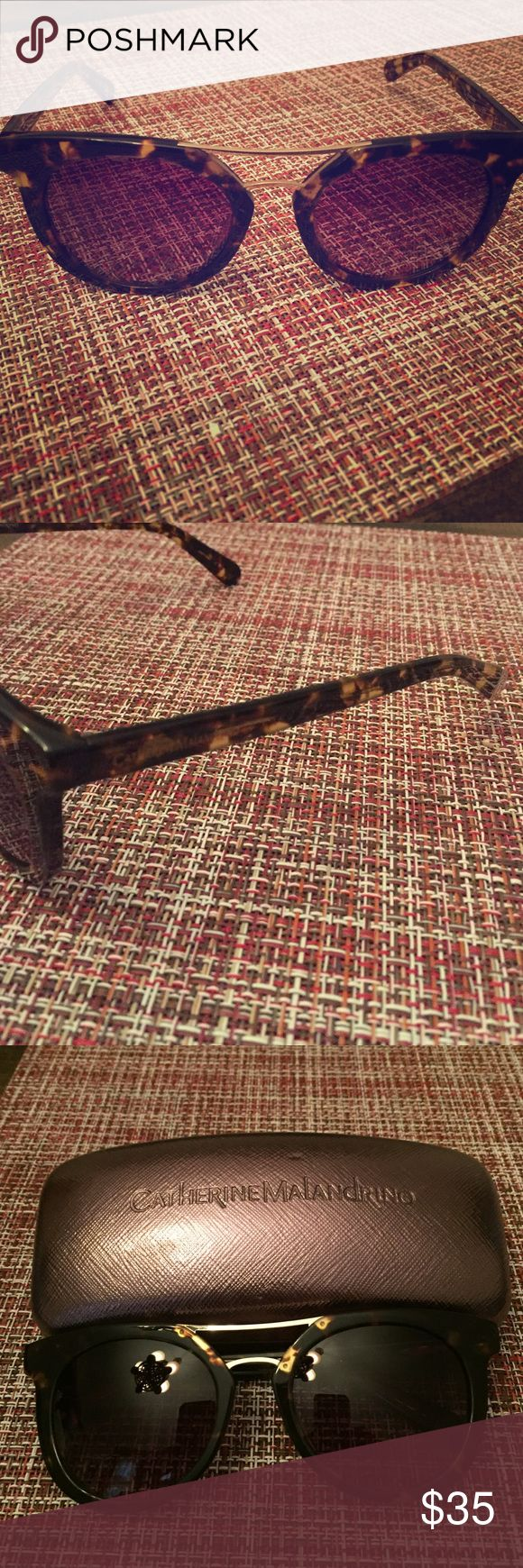 Catherine Malandrino Tortoise Sunglasses Tortoise with gold accented sunglasses by Catherine Malandrino. Comes with original case. Only worn a few times and in excellent condition. Catherine Malandrino Accessories Sunglasses