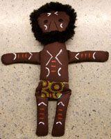 Handmade Aboriginal Doll Aboriginal Warrior  handmade in Australia designed by Nola Turner-Jensen (Wiradjuri)  comes with uniqueWiradjuri name size:  38cm  Price:  $60.00 each
