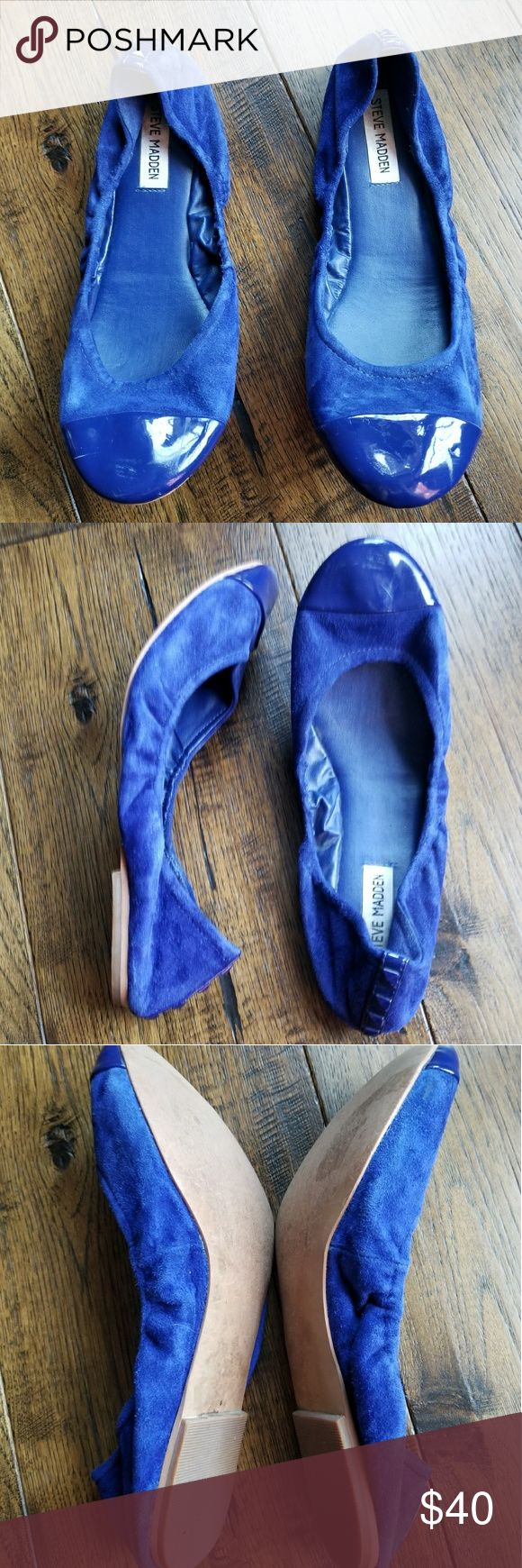 Steve Madden FAVORYTE Cobalt Blue ballet flats Steve Madden FAVORYTE Cobalt Blue ballet flats. Size 10 M. Excellent used condition. Love the electric blue color of these shoes. Steve Madden Shoes Flats & Loafers