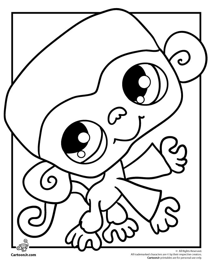 cartoon monkeys coloring pages - photo#30