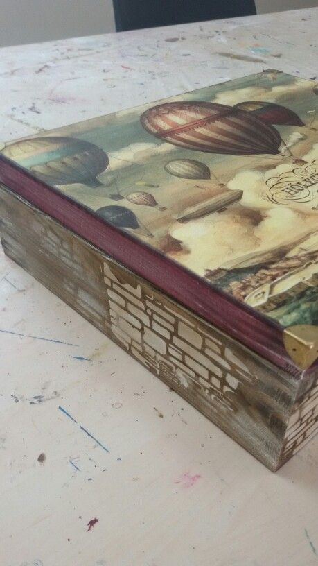 Big box decoupage soft paper vintage