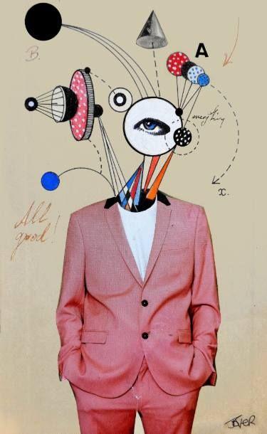 "Saatchi Art Artist Loui Jover; Collage, ""smooth operator"" #art"
