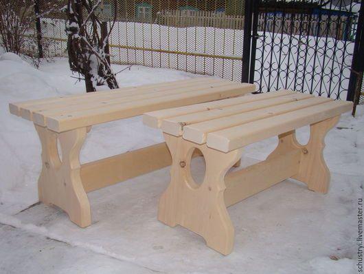 Мебель ручной работы. Ярмарка Мастеров - ручная работа. Купить Деревянная скамейка в баню сауну беседку из кедра Банная. Handmade.