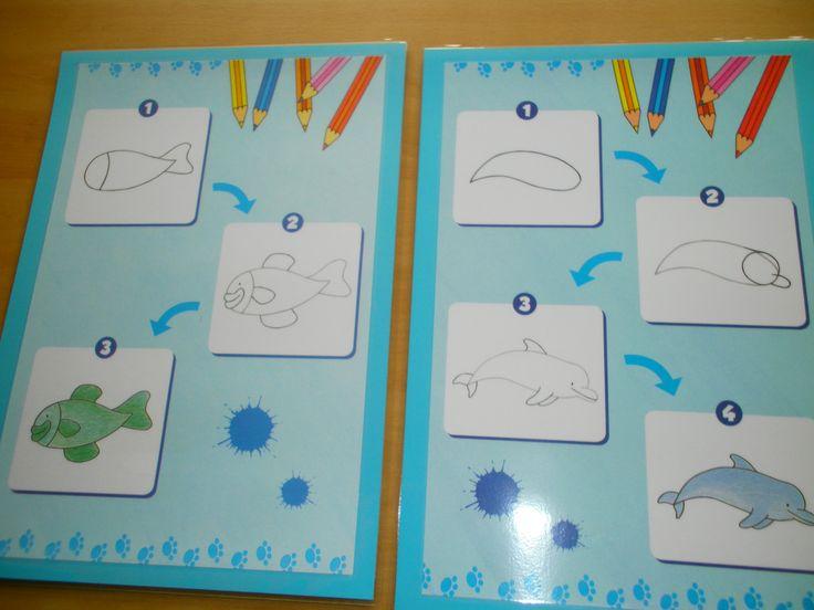 Stappenplan Vis Tekenen In 3 Stappen Dolfijn Tekenen In